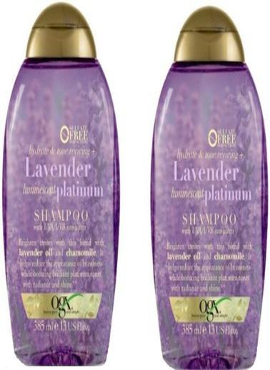 Organix Ogx Sarı Saçlar için Renk Koruyucu Lavender Platinum Şampuan 385 Renksiz